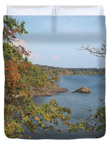 Lake Superior Autumn Duvet Cover