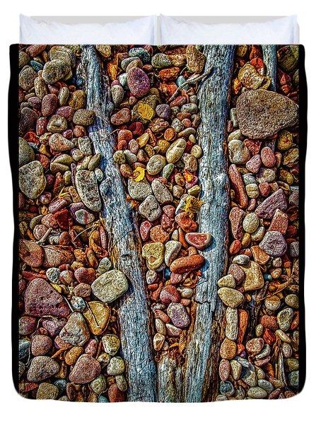 Lake Superior Beach Art Duvet Cover