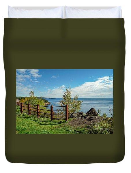 Lake Superior Overlook Duvet Cover