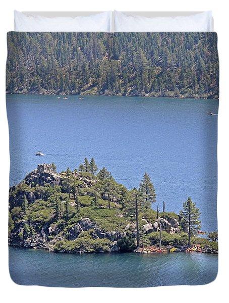 Lake Tahoe - Fannette Island Duvet Cover