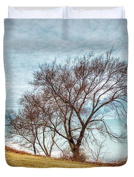 Lakeshore Lonely Tree Duvet Cover