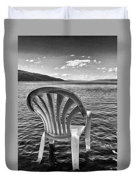 Lakeside Waiting Room Duvet Cover