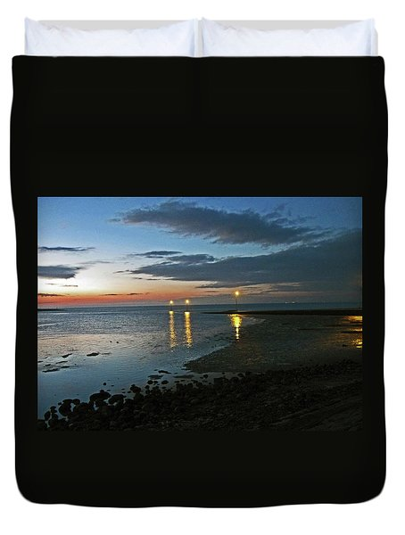 Lancashire. Knott End. Sunset.. Duvet Cover