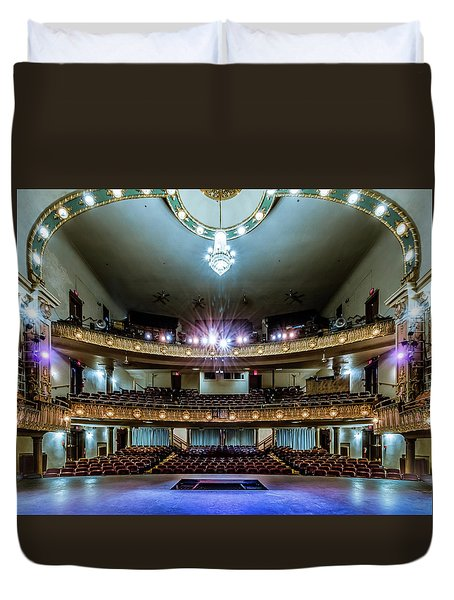 Landers Theatre Stage View Duvet Cover
