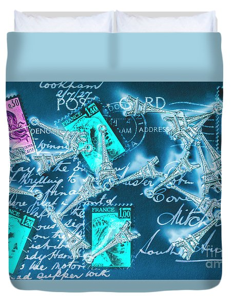 Landmark Love Letter Duvet Cover