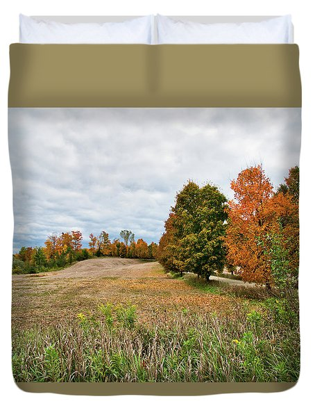 Landscape In The Fall Duvet Cover