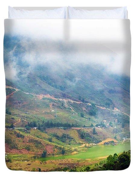 Landscape In Vietnam Duvet Cover
