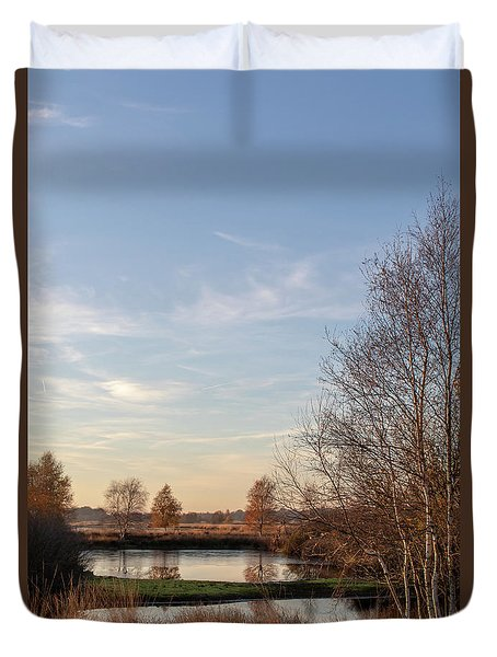 Duvet Cover featuring the photograph Landscape Scenery by Anjo Ten Kate