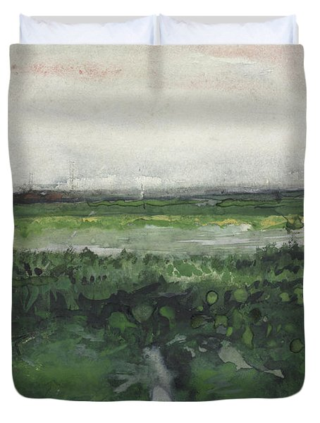 Landscape With Wheelbarrow, 1883  Duvet Cover