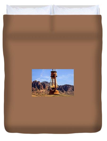 Lantern Over Superstitions Duvet Cover
