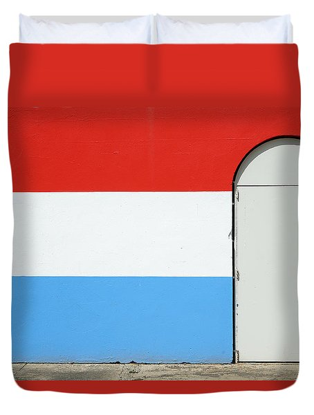 Las Croabas - Red White And Blue Duvet Cover