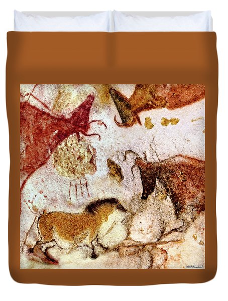 Lascaux Horse And Cows Duvet Cover