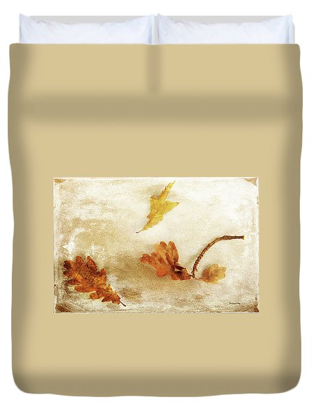 Duvet Cover featuring the photograph Last Days Of Fall by Randi Grace Nilsberg