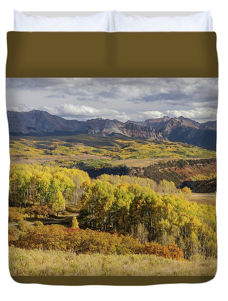 Duvet Cover featuring the photograph Last Dollar Road by James BO Insogna
