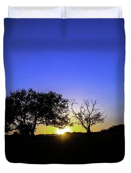 Last Light Texas Hill Country Paradise Canyon Sunset 8053a Duvet Cover