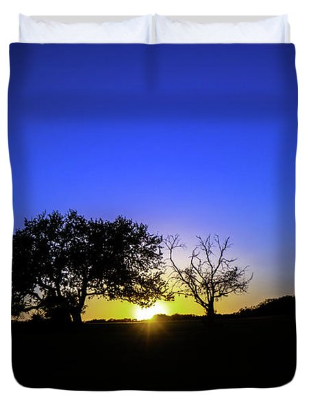 Last Light Texas Hill Country Paradise Canyon Sunset 8053a1 Duvet Cover