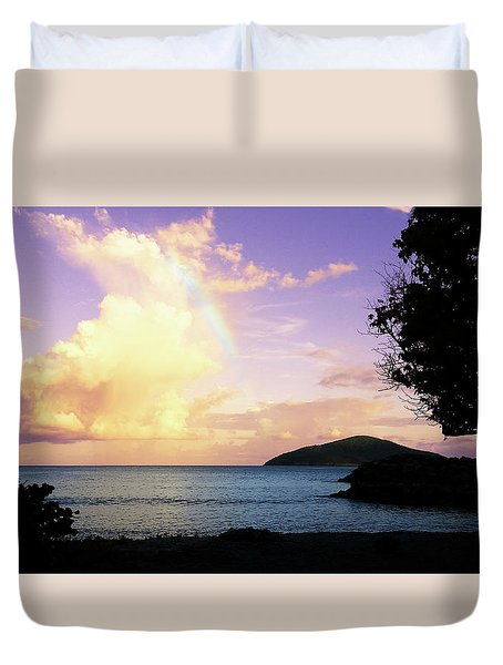 Last Rainbow Of The Day Duvet Cover