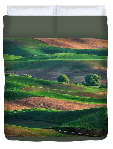 Late Afternoon In The Palouse Duvet Cover