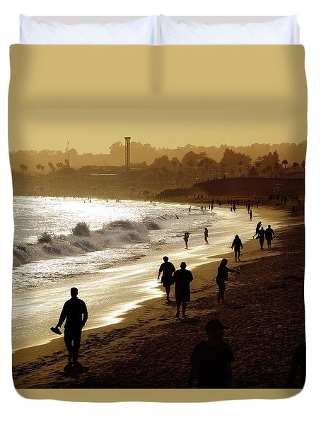 Duvet Cover featuring the photograph Late Afternoon Stroll by Quality HDR Photography