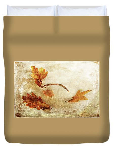 Duvet Cover featuring the photograph Late Late Fall by Randi Grace Nilsberg