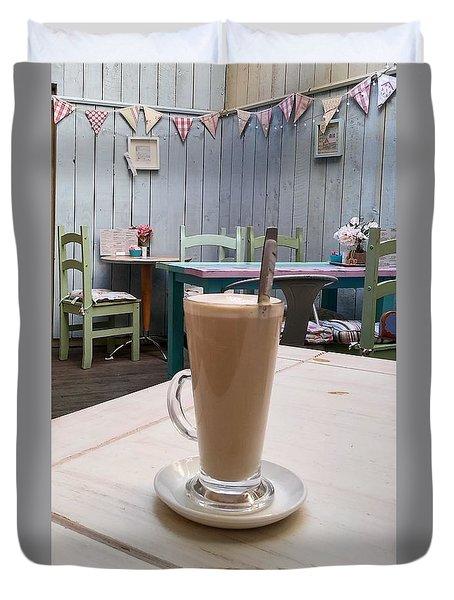 Latte Time Duvet Cover