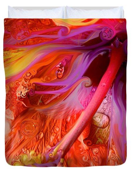 Laughing Hibiscus Duvet Cover