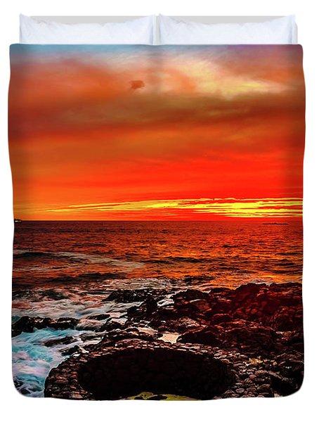 Lava Bath After Sunset Duvet Cover