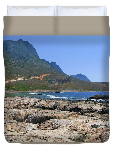 Lava Rocks Of Balos Duvet Cover