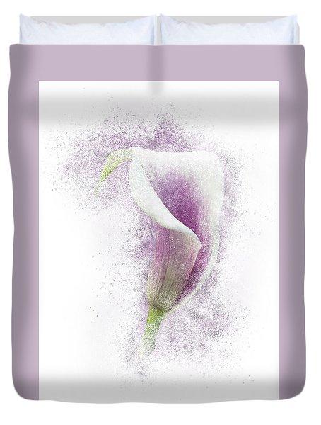 Lavender Calla Lily Flower Duvet Cover
