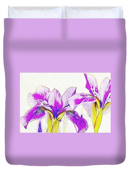 Lavender Irises Duvet Cover