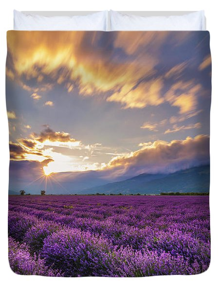Lavender Sun Duvet Cover