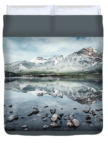 Layers Of Tranquility Duvet Cover
