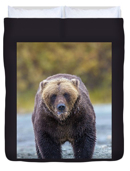 Lazy C Angry Bear  Duvet Cover