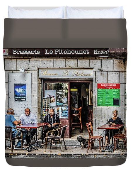 Le Pitchounet Brasserie Duvet Cover