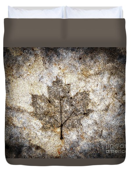 Leaf Imprint Duvet Cover