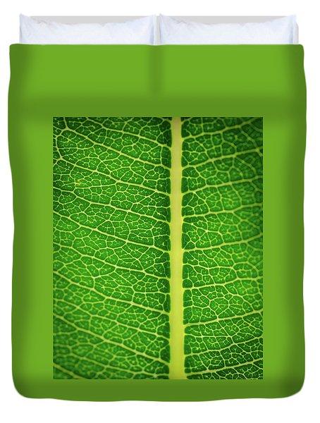Leafy Detail Duvet Cover