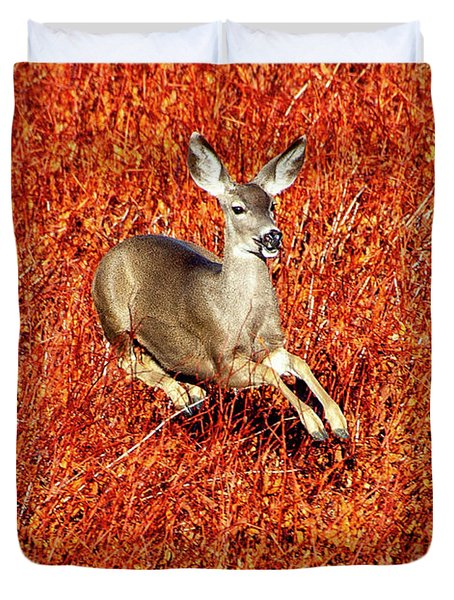 Leaping Deer Duvet Cover
