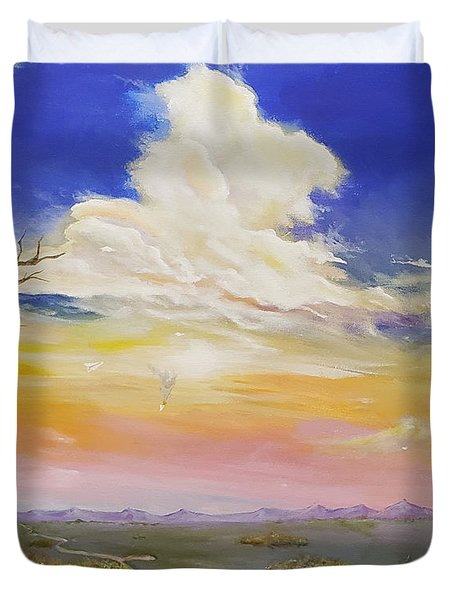 Duvet Cover featuring the painting Learning The Hard Way by James Andrews