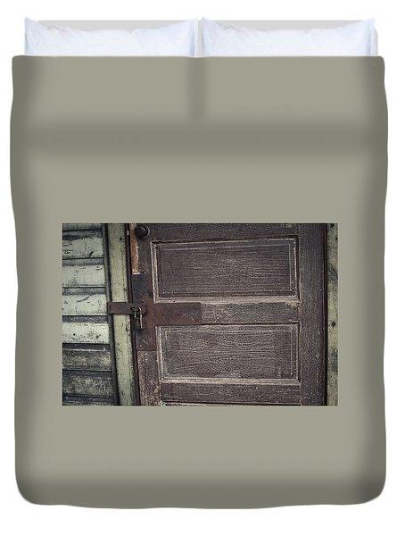Leather Door Duvet Cover