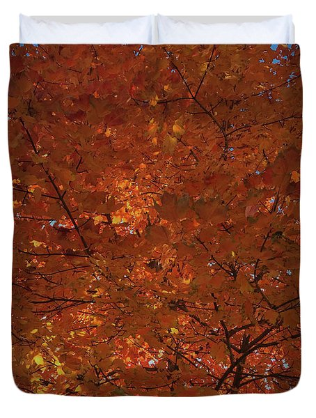 Leaves Of Fire Duvet Cover
