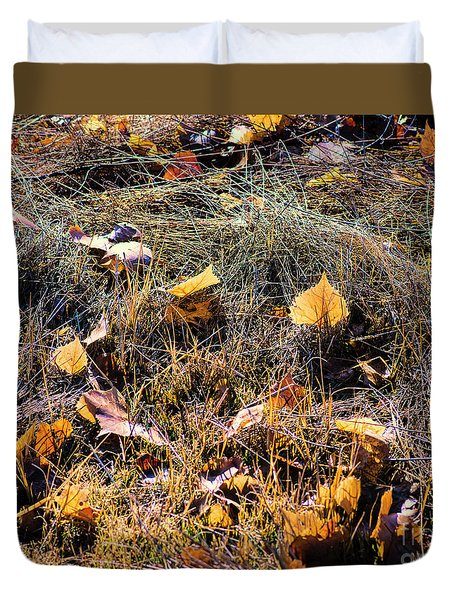 Duvet Cover featuring the photograph Leaves Of Grass by Jon Burch Photography