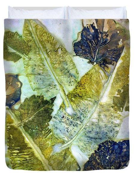 Leaves Of Nature Eco Dyed Print Duvet Cover