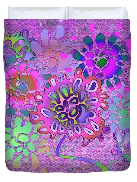 Duvet Cover featuring the digital art Leaves Remix Three by Vitaly Mishurovsky