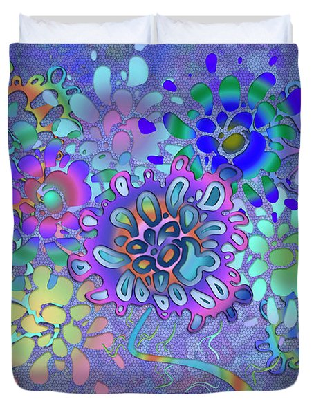 Duvet Cover featuring the digital art Leaves Remix Two by Vitaly Mishurovsky