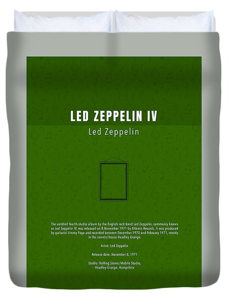 Led Zeppelin Iv Led Zeppelin Greatest Albums Of All Time Minimalist Series Duvet Cover