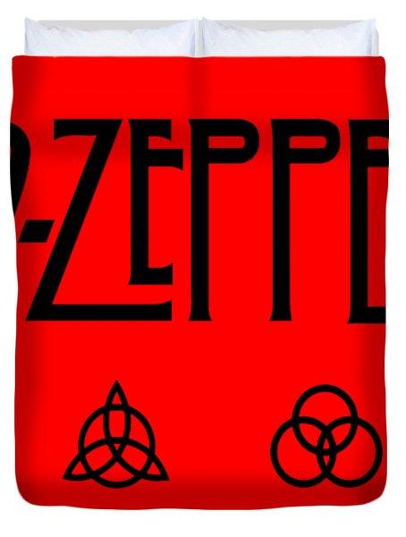 Led Zeppelin Z O S O - Transparent T-shirt Background Duvet Cover
