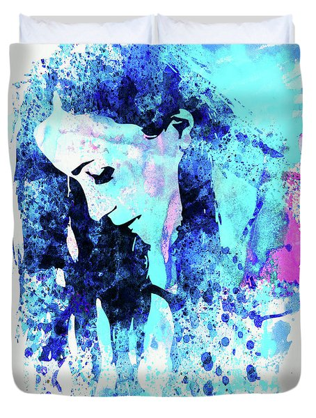 Legendary Alanis Morissette Watercolor Duvet Cover