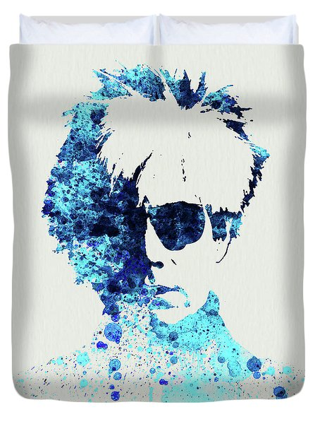 Legendary Andy Warhol Watercolor Duvet Cover