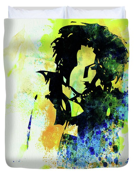 Legendary Ani Difranco Watercolor Duvet Cover