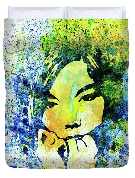 Legendary Bjork Watercolor II Duvet Cover